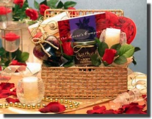 Romantic Evening for Two Gift Basket