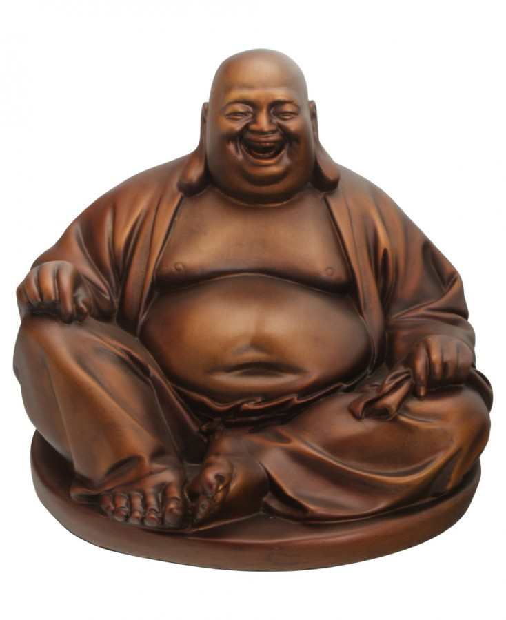 The image of the Laughing Buddha is based on a wandering monk who lived centuries ago.