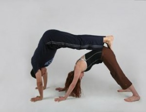 intimacy ideas for couples  practicing yoga together